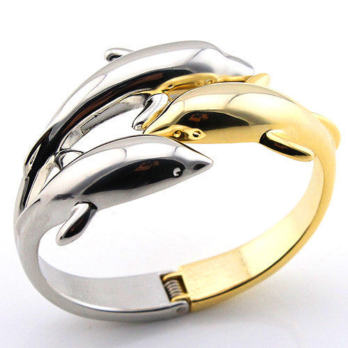 Dolphin Two Tone Color Bracelet