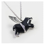 Lucky Flying Pig Angel Necklace