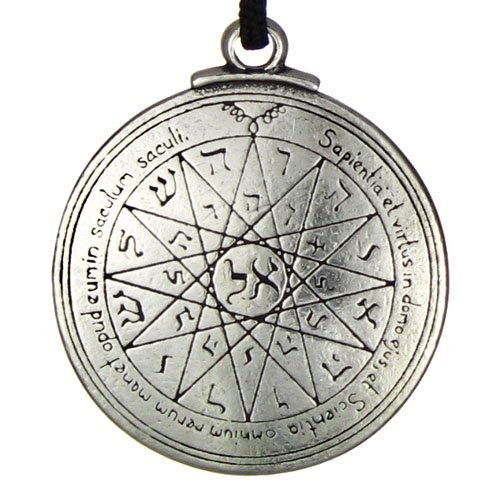 Mercury Talisman Key of Solomon Seal Amulet Necklace