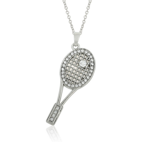 Sports Tennis Racket Necklace