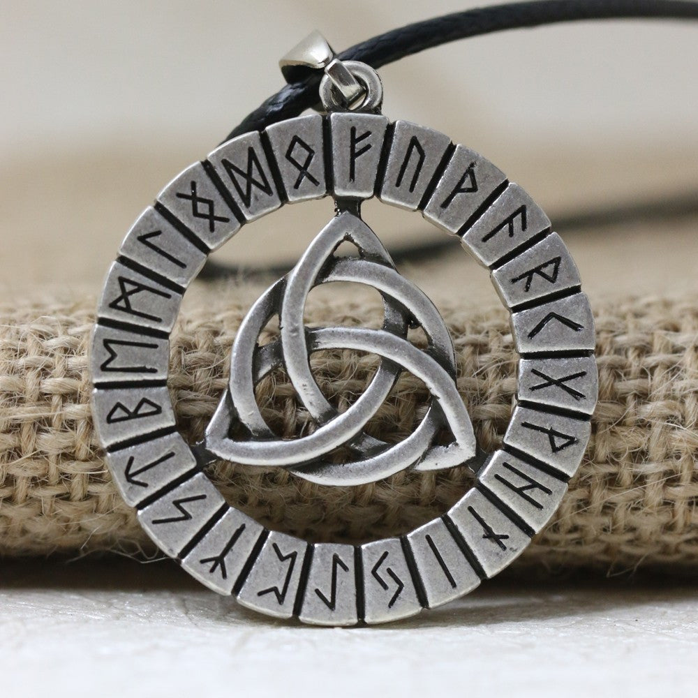 Nordic Vikings Rune Knot Talisman Amulet Necklace