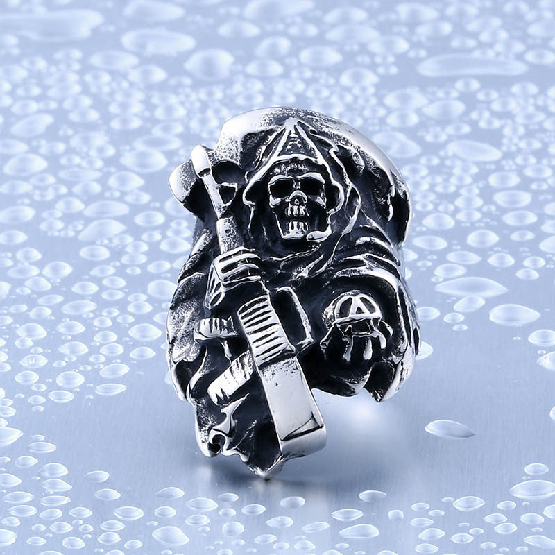 Death Skull with Rifle Ring