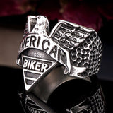 American Biker Motorcycle Freedom Ring