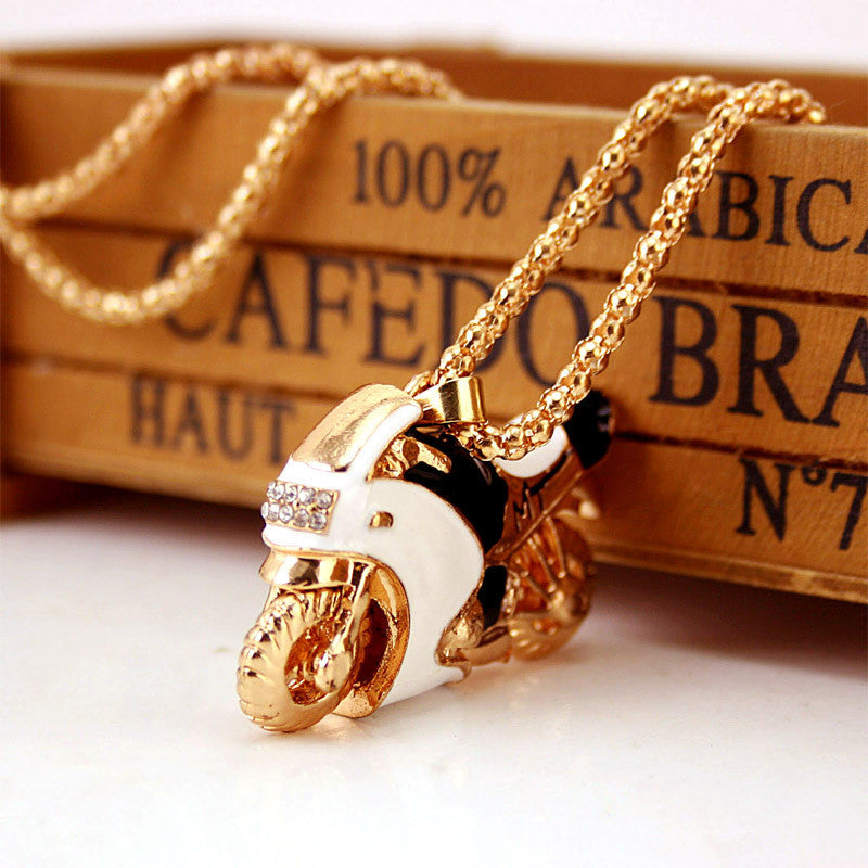Motorcycle Pendant Necklace