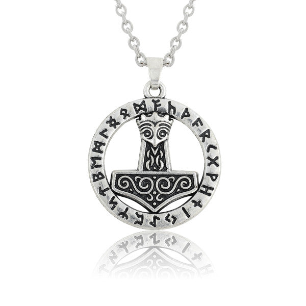 Viking Norse Thors Hammer Pendant Necklace