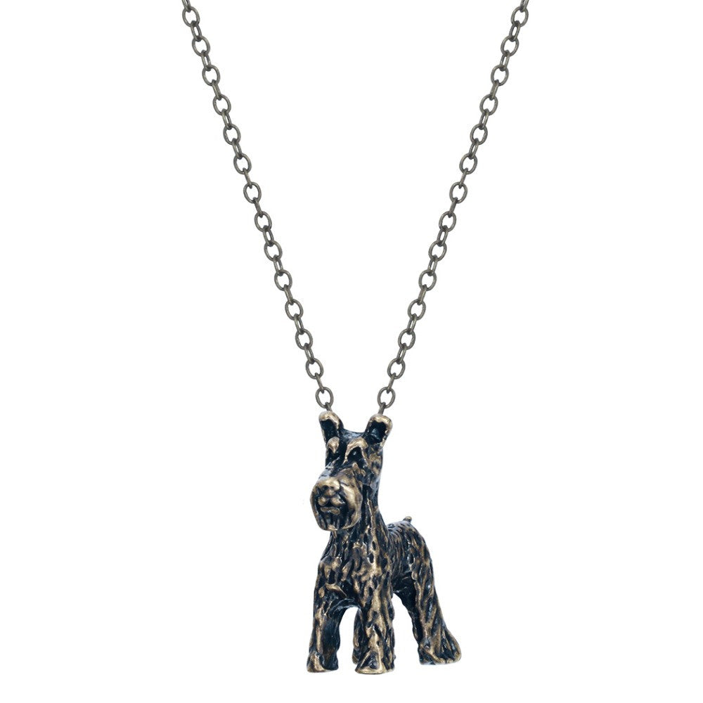3D Schnauzer Dog Breed Necklace
