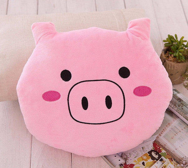 cute pink pig cushion stuffed pillow bold and honest