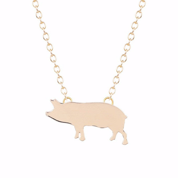 Cute Boho Pig Necklace