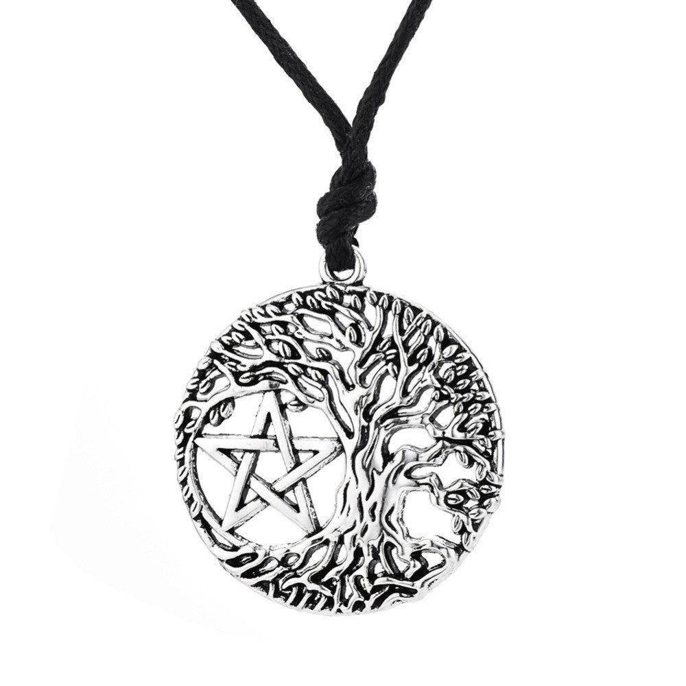 Tree of Life Yggdrasil Pentacle Pendant Necklace