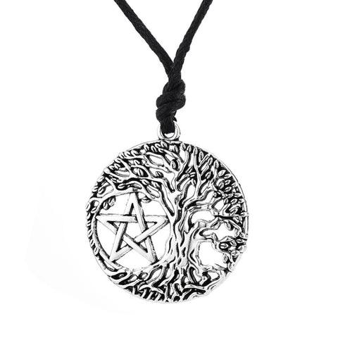 1ebbd8e35fe Tree of Life Yggdrasil Pentacle Pendant Necklace