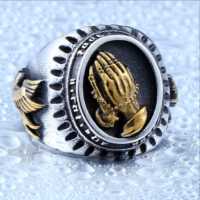 Blessed Virgin Mary Pray Hand Ring