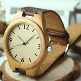 Natural Bamboo Wood Wristwatch