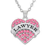 Heart Shaped Lawyer Pendant Necklace