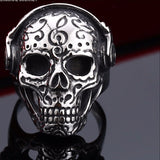 Beier Tattoo Music Skeleton Skull Ring