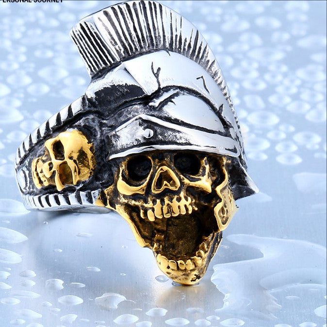 Beier Indian Punk Skull Ring