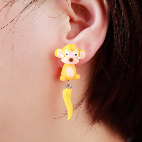 Pameng Monkey Stud Earrings