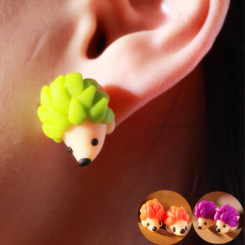 Pameng Handmade Hedgehog Stud Earrings