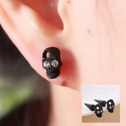 Pameng Skull Head Stud Earrings
