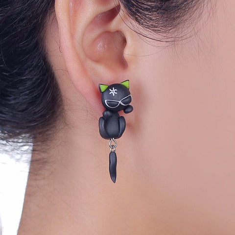 Cat 3d Animal Earrings