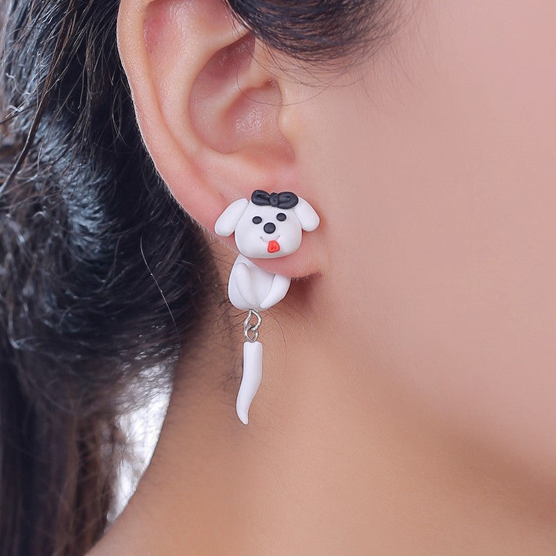 3D Dog Stud Earrings