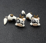 3D Cow Stud Earrings
