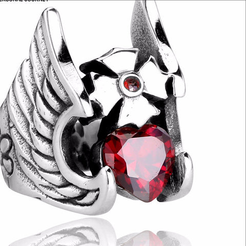 Beier Hammer of Thor Red Cubic Zirconia Ring