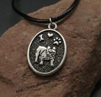 Handmade Bulldog Metal Necklace