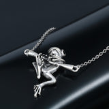 3D Baby Frog On A Branch Necklace
