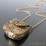 Bag Shape Carved Pendant Necklace