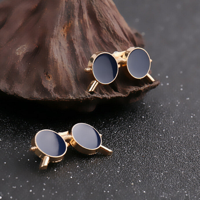 Korean Style Glasses (Gold Plated) Brooch