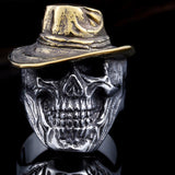 Beier Gold Hat Skull Ring