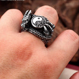 Dragon Taiji Yin yang Bagua Ring