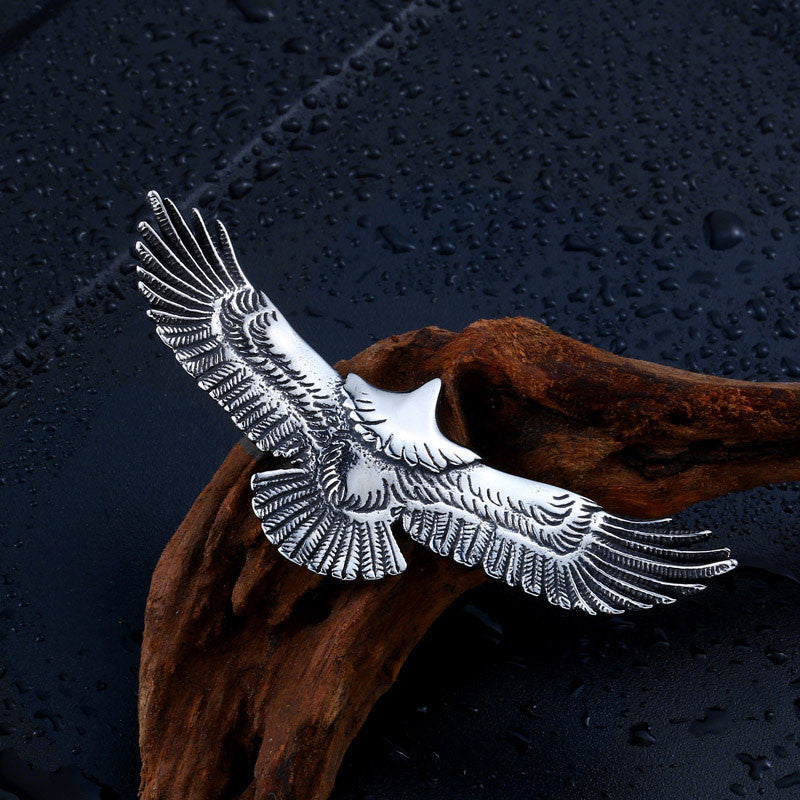 Eagle with Wings Pendant Necklace