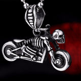 Motorcycle Head Skull Pendant Necklace