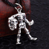 Beier Skull Figure Pendant Necklace