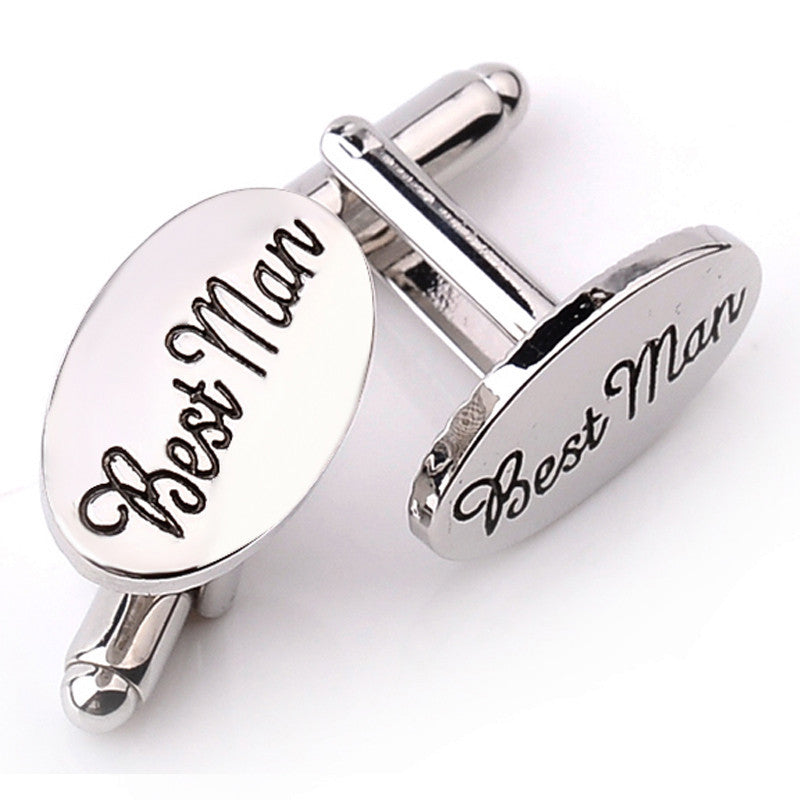 Best Man Cufflinks (Silver Plated)