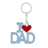 Heart I Love MAMA/MOM/DAD/PAPA KeyChains