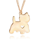 lovely heart pendant metal chain Kitty Pendant Necklace