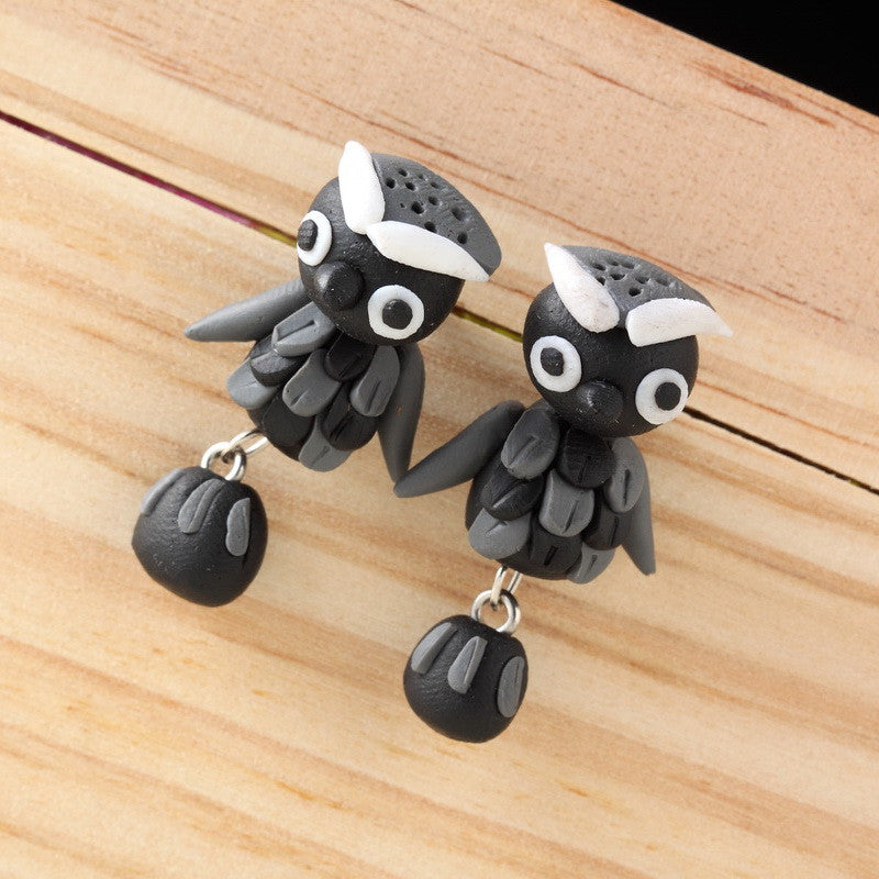Pameng Handmade Owl Stud Earrings