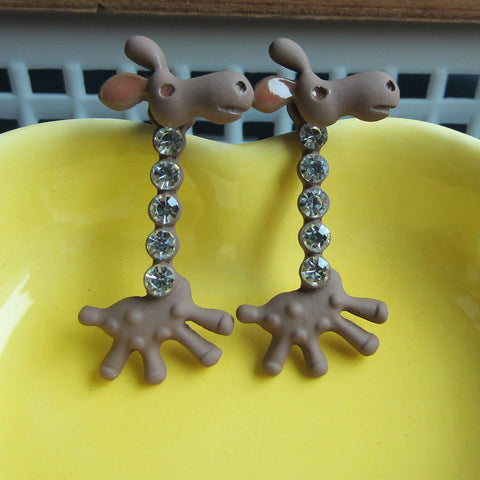 Pameng Crystal  Giraffe Earrings