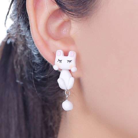 3D Rabbit Stud Earrings