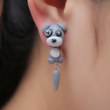 3D Puppy Stud Earrings
