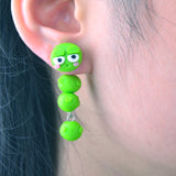 3D Lovely Caterpillar Stud Earrings