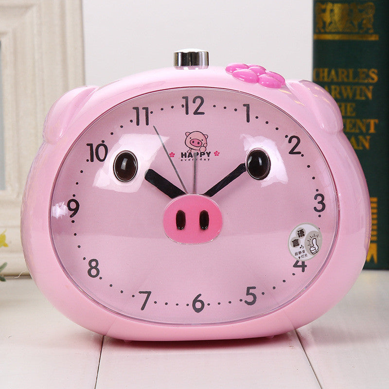 Pig Alarm Clock With LED Light