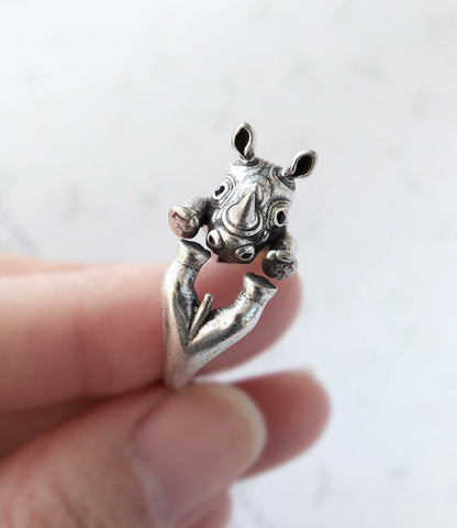 Cute Rhino Ring (Vintage Design)
