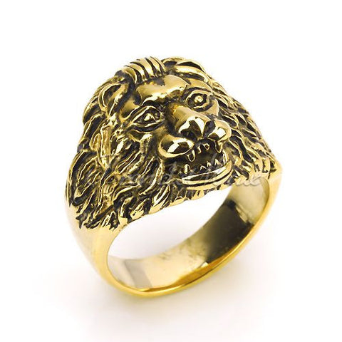 Yellow Gold Lion Ring