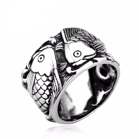 Embossed Fish Ring