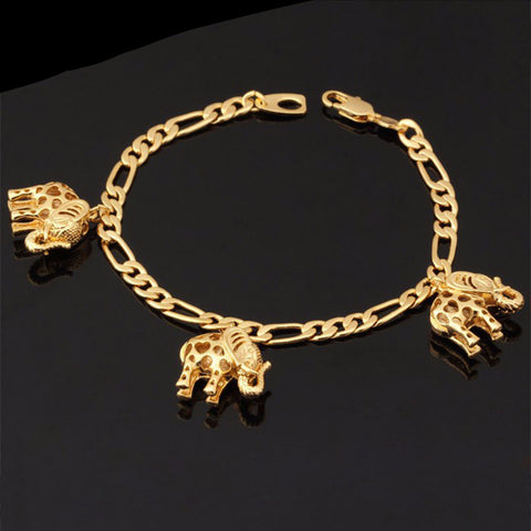 Elephant Bracelets (18K Gold Plated)