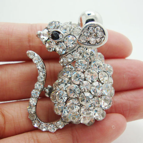 Mouse Brooch Pin