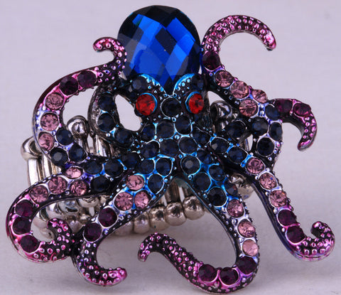 Octopus Stretch Ring in Blue and Purple - Great for summer parties!